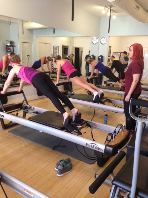 plank on the reformer