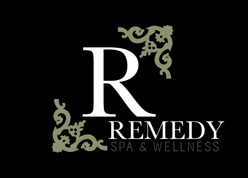 remedy logo black background