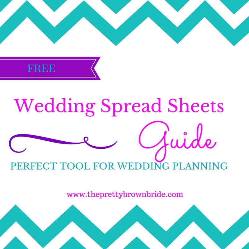FREE WEDDING SPREAD SHEET GUIDE