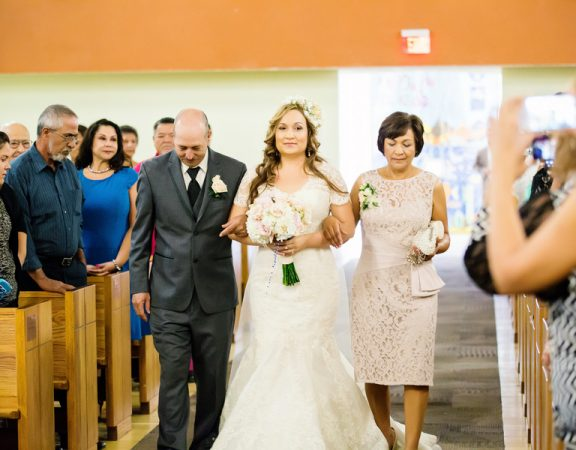 Bridal aisle walk
